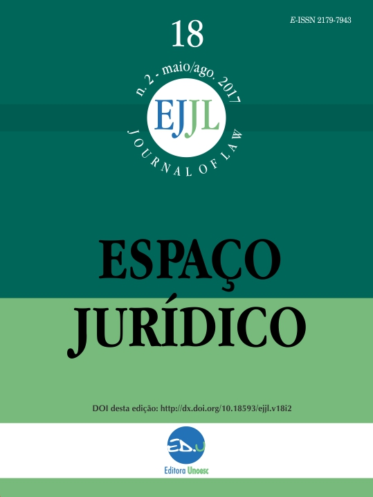 Visualizar v. 18 n. 2 (2017): Espaço Juridico Journal of Law [EJJL]